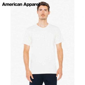 American Apparel 2001ORGW Organic Fine Jersey T-Shirt (US Size)