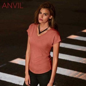 ANVIL 6750VL Ladies Tri-Blend V-Neck T-Shirt