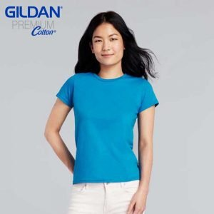 Gildan 76000L Premium Cotton Ladies Ringspun T-Shirt