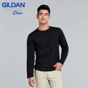 Gildan 76400 Premium Cotton Adult Ringspun Long Sleeve T-Shirt