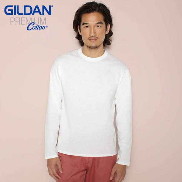 Gildan 7640A 5.3oz Premium Cotton Long Sleeve T-Shirt