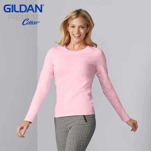 Gildan 76400L Ladies Ringspun Long Sleeve T-Shirt