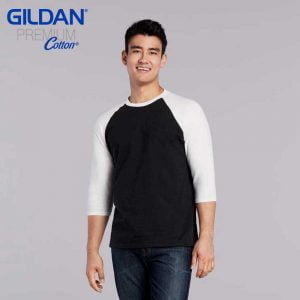 Gildan 76700 Premium Cotton Adult 3/4 Sleeve Raglan T-Shirt