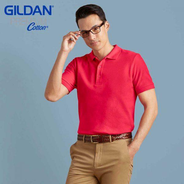 Gildan 83800 Adult Ring Spun DP Polo Shirt