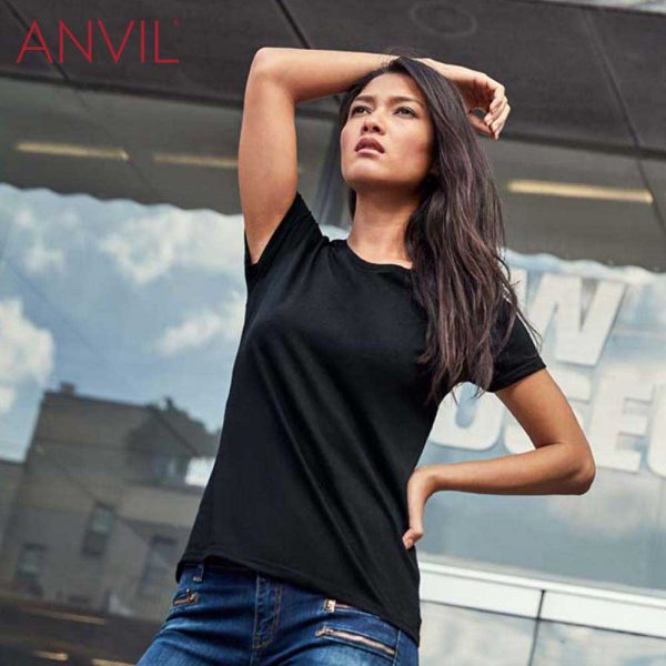 ANVIL 880L Ladies Lightweight Combed Ring Spun T-Shirt
