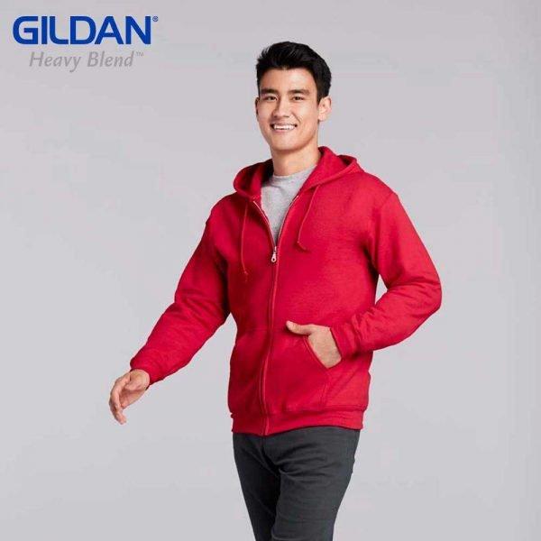 Gildan 88600 HEAVY BLEND Adult Full Zip Hooded Sweatshirt