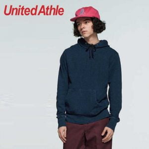 United Athle 3907-01 Adult Indigo Hooded Sweatshirt