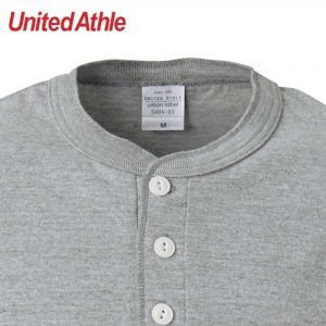 United Athle 5004-01 5.6oz Adult Henry Collar Cotton T-shirt