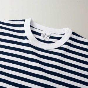United Athle 5.6oz Adult Striped Cotton T-shirt