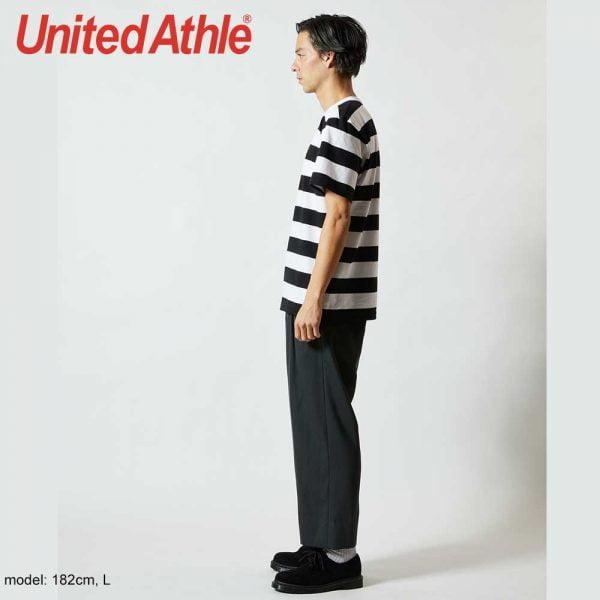 United Athle 5625-01 5.6oz 橫條紋T恤