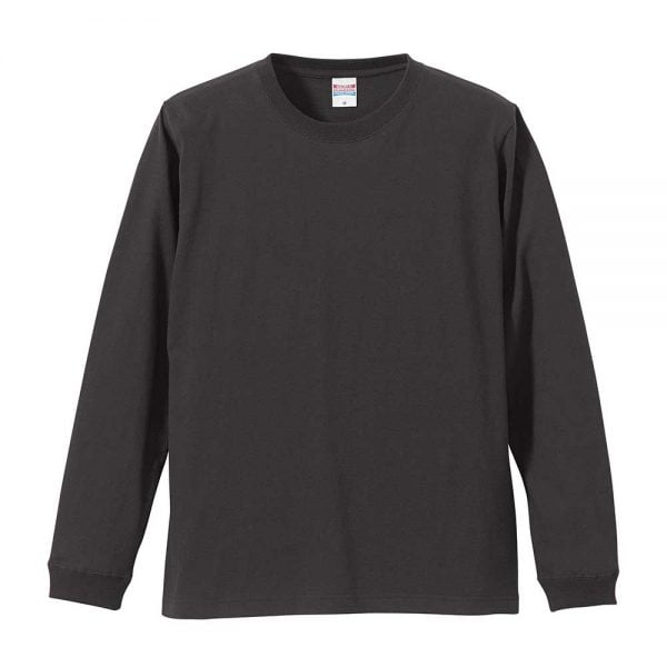 United Athle 5011 5.6oz Long Sleeve Cotton T-Shirt - Dark Grey 165