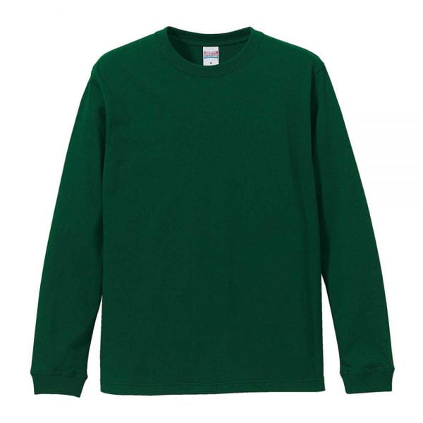 United Athle 5011 5.6oz Long Sleeve Cotton T-Shirt - Ivy Green 497