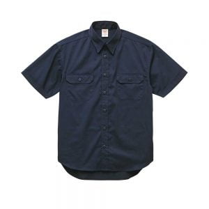 United Athle 1772-01 T/C Short Sleeve Pocket Work Shirt