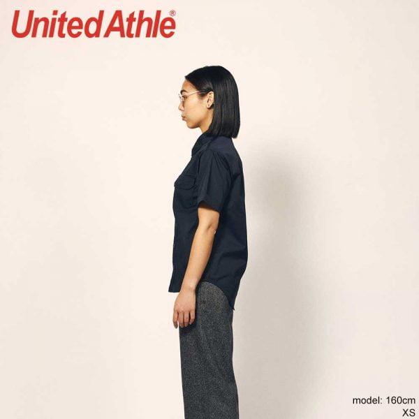 United Athle 1772-01 T/C Short Sleeve Pocket Work Shirt