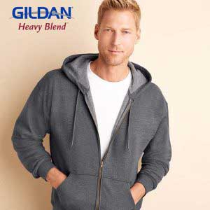 Gildan 18700 8.0oz Heavy Blend Vintage Classic Adult Full Zip Hooded Sweatshirt