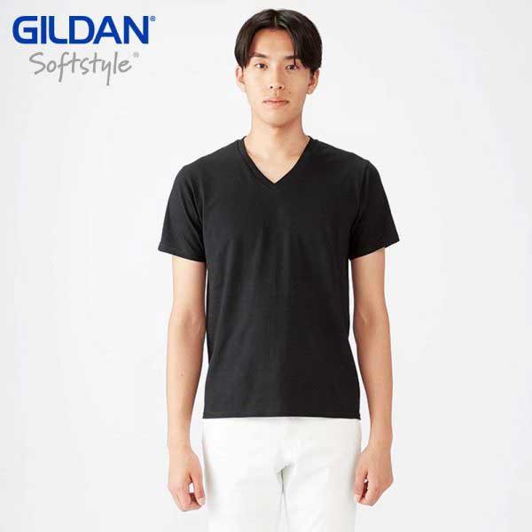 Gildan 63V00 SoftStyle 成人環紡 V領 T恤