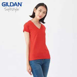 Gildan 63V00L SoftStyle Ladies V-Neck T-Shirt
