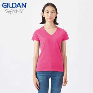 Gildan 63V00L SoftStyle 女裝環紡 V 領 T 恤