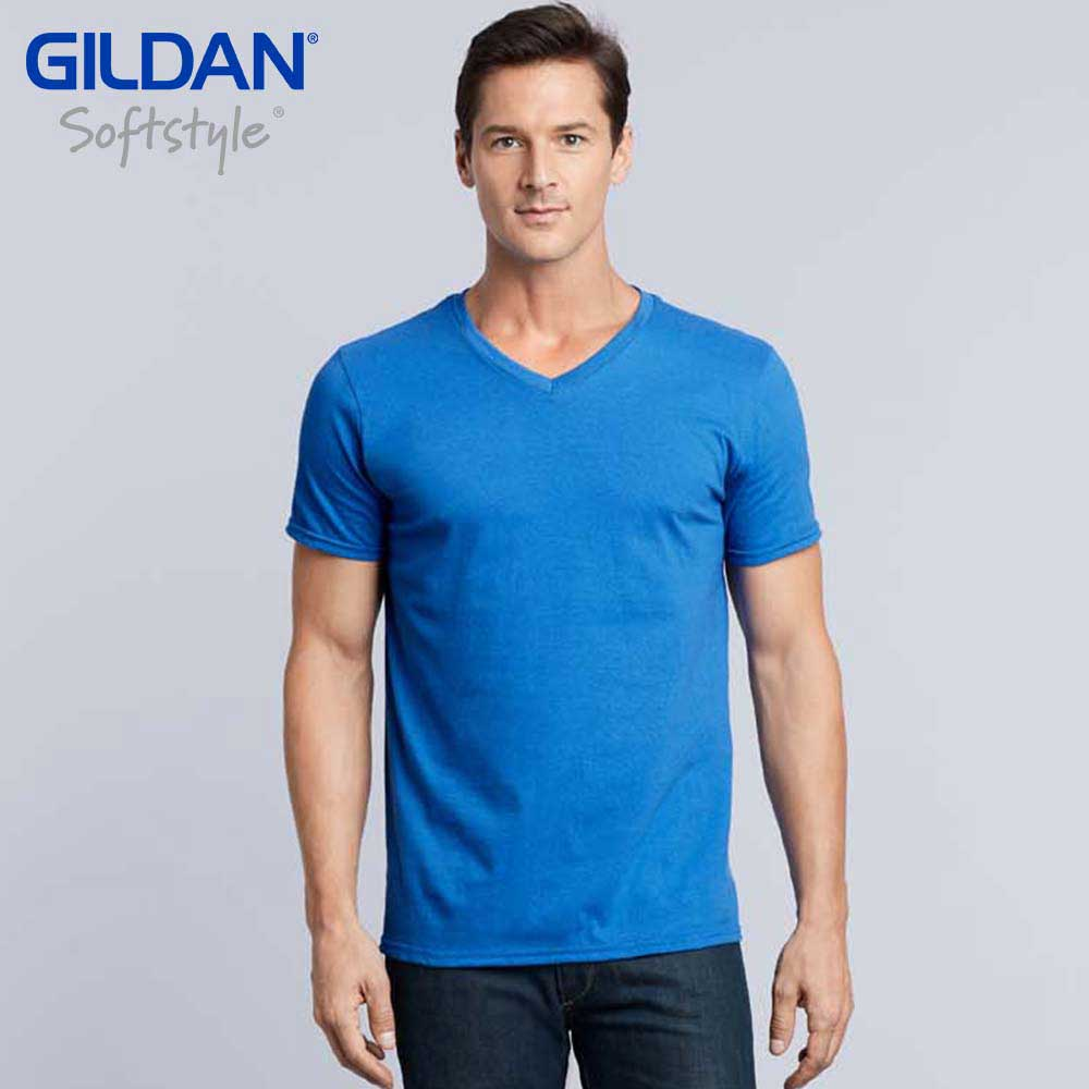 8a320333 Gildan 64V00 Softstyle Adult Ring Spun V-Neck T-Shirt (US Size ...