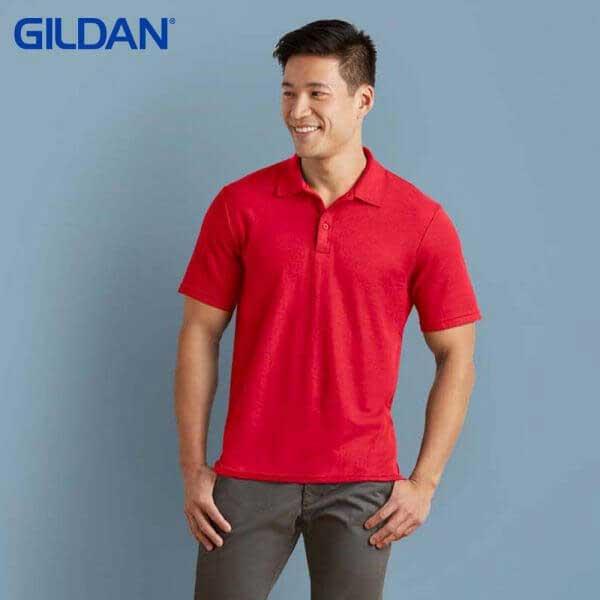 Gildan 73800 成人珠地網眼馬球服