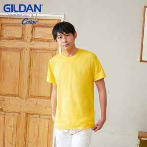 Gildan 76000 Premium Cotton 成人環紡圓筒 T 恤