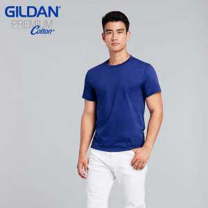 Gildan 76000 Premium Cotton 成人環紡圓筒 T 恤