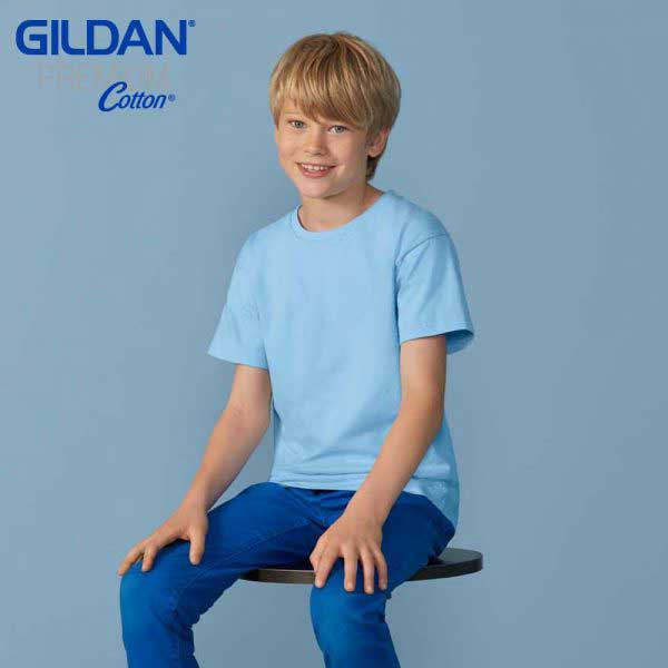 Gildan 76000B Premium Cotton 童裝環紡 T恤