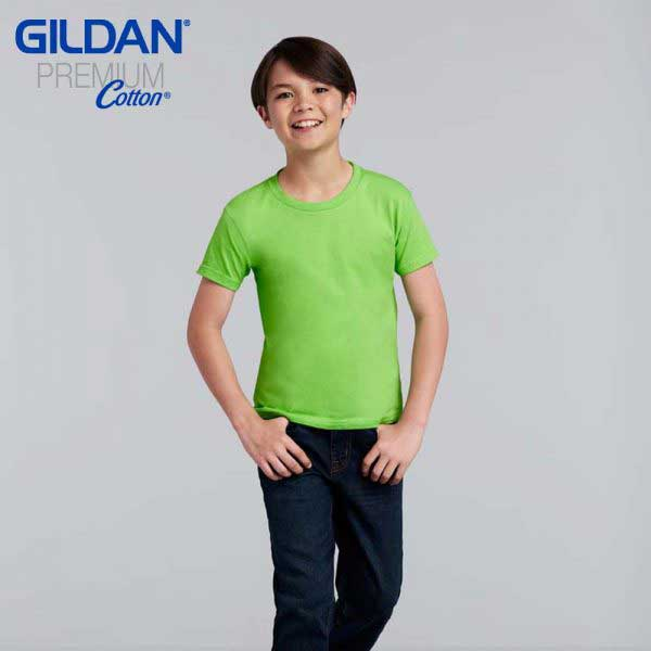 Gildan 76000B Premium Cotton 環紡童裝 T恤