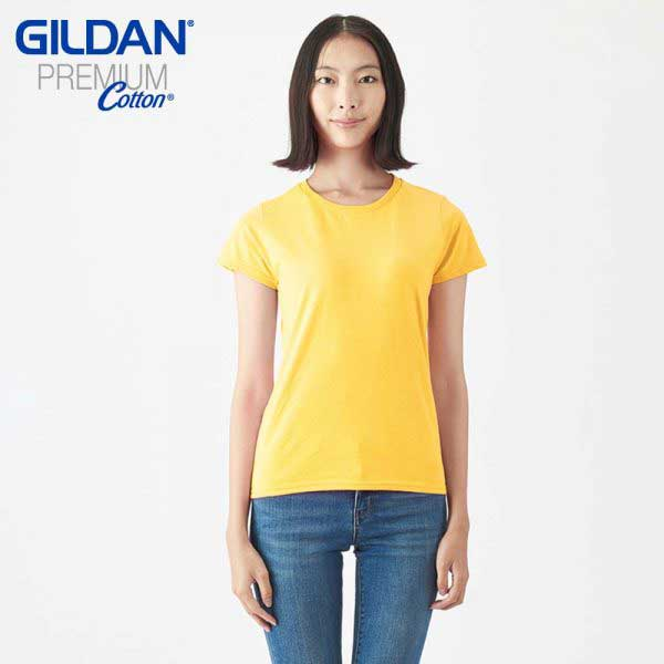 Gildan 76000L Premium Cotton 環紡女裝 T恤