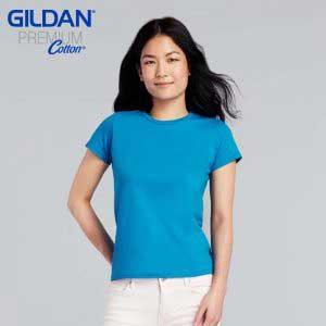 Gildan 76000L Premium Cotton Ladies Ring Spun T-Shirt
