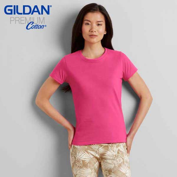 Gildan 76000L Premium Cotton 環紡女裝 T恤