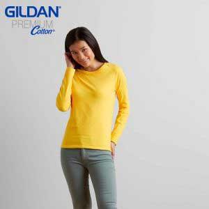 Gildan 76400L 女裝長袖 T 恤