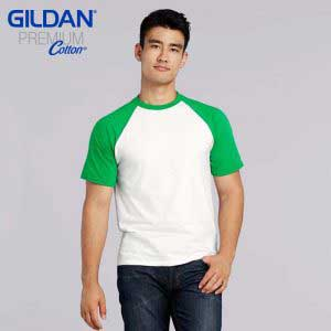 Gildan 76500 Adult Ring Spun Raglan T-Shirt