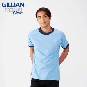 Gildan 76600 Adult Ring Spun Ringer T-Shirt