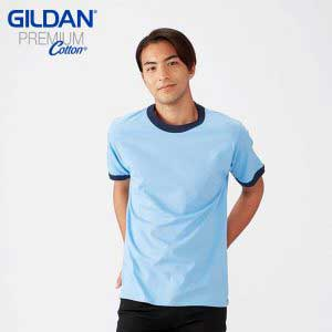 Gildan 76600 Adult Ring Spun Ringer T-Shirt