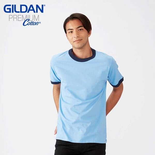 Gildan 76600 成人撞色領 T恤
