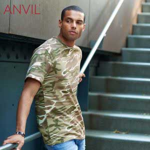 ANVIL 939 Adult Midweight Camouflage T-Shirt (US Size)