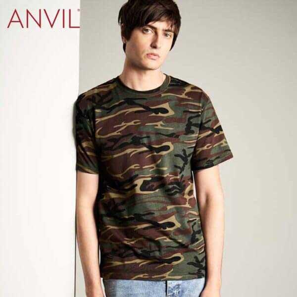 ANVIL 939 男裝環紡迷彩 T恤 (美國尺碼)