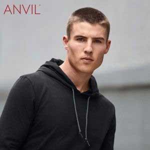 ANVIL 987 成人輕身有帽長袖 T 恤 (美國尺碼)