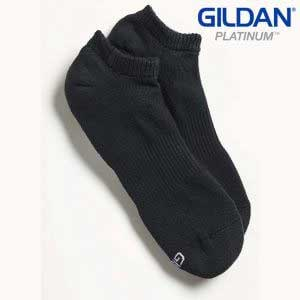 Gildan Platinum GP711 Men's No Show Socks – Black (6 PAIR)
