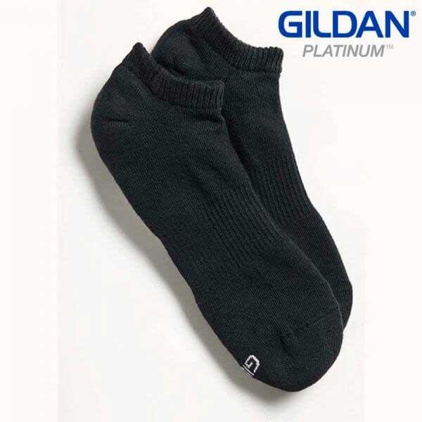 Gildan Platinum GP711 男裝黑色船襪 (6 對裝)