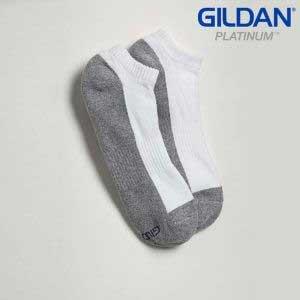 Gildan Platinum GP711 男裝白色/灰色船襪 (6 對裝)