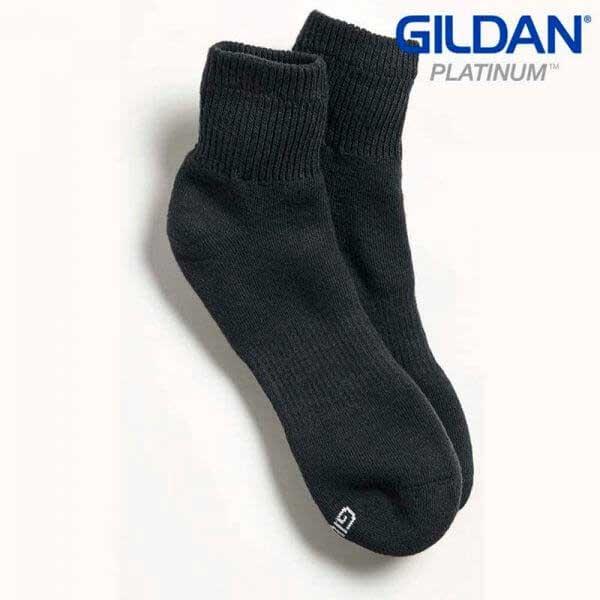 Gildan Platinum GP731 男裝黑色短襪 (6 對裝)