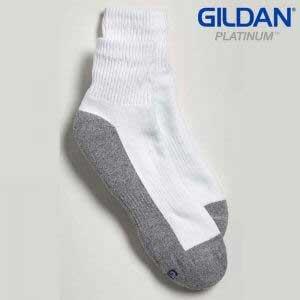 Gildan Platinum GP731 Men's Ankle Socks White/Grey (6 Pair)