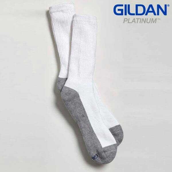 Gildan Platinum GP751 白色/灰色男裝長襪 (6 對裝)