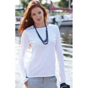 Gildan 64400L SoftStyle 女裝環紡長袖 T 恤