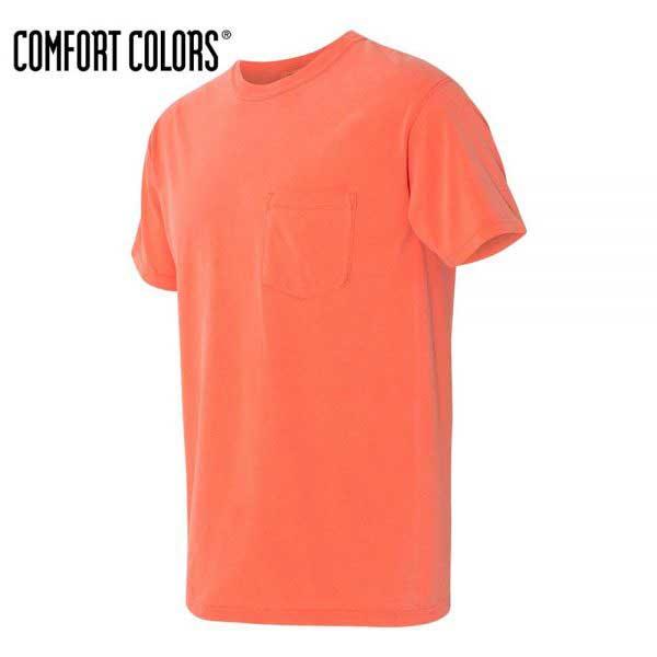 COMFORT COLORS 6030 成人環紡洗水有袋 T 恤 (美國尺碼)