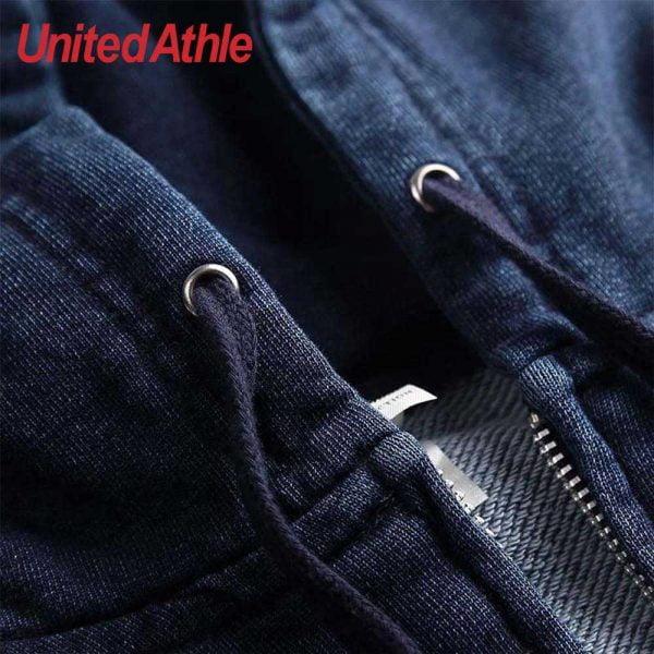 United Athle 3905-01 Adult Indigo Hooded Full Zip Sweatshirt 3905-01 Indigo 745