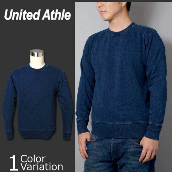 United Athle 3906-01 Adult Indigo Crewneck Sweatshirt 3906-01 Indigo 745
