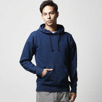 United Athle 3907-01 Adult Indigo Hooded Sweatshirt 3907-01 Indigo 745